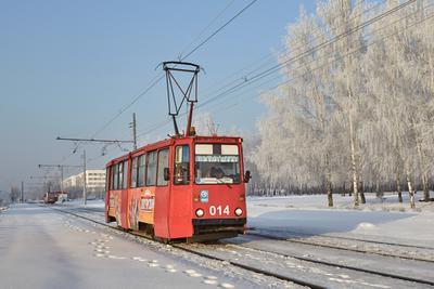 Челнинский трамвай трамвай зима снег