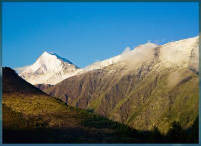 Утренняя... утро горы заморозки Солнце