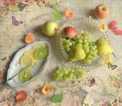 С фруктами флетлей фрукты цветы натюрморт