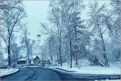 зима пришла Раменское народное имение церков петра и павла