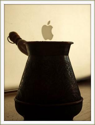 Утро программиста кофе, apple