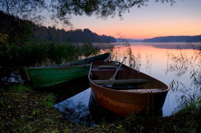 Про две лодки и ветер утро лодки озеро