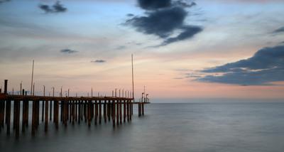 Мооореее... море закат пристань облака