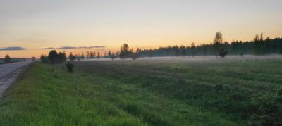 Стелется вечерний туман