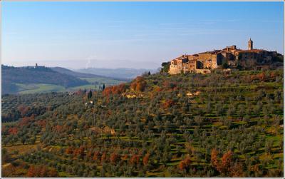 На сиенских холмах Италия Тоскана Crete Senesi