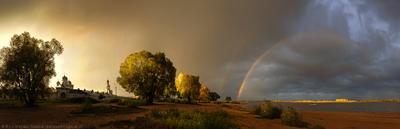 Дожди октября Великий Новгород Юрьев Монастырь Осень