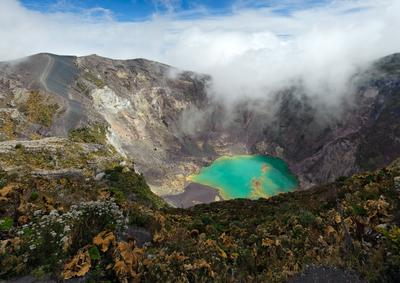 Зелёное сердце вулкана Коста-Рика вулкан горы пейзаж природа кратер