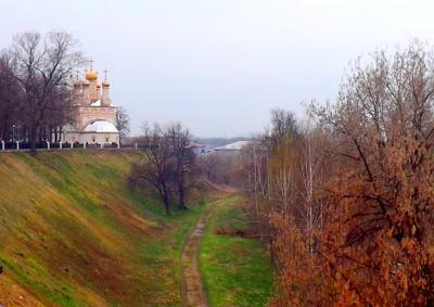 Весна. Рязань Кремль Весна Вербное Воскресение Преображенский храм Спас-на-Яру