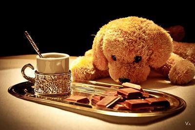 фото для девочек натюрморт, шоколад, игрушка, тёплая