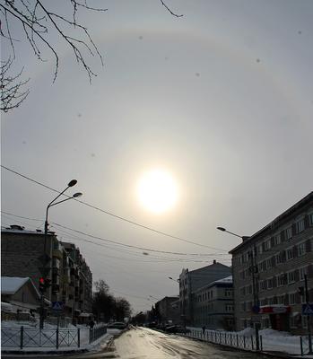 Гало Гало явление природа погода небо зима