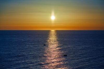 Закат Сочи Черное море вечер закат осень