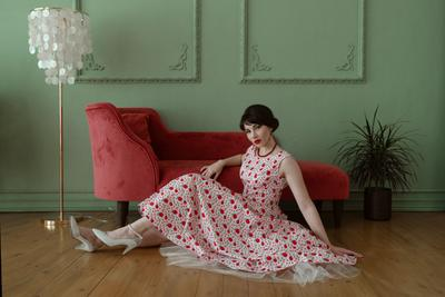 Sweet 50s мода 50-е стиль 50-х ретро девушка