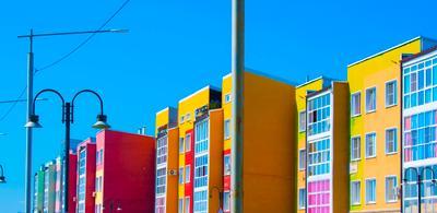 Яркие домики архитектура краски