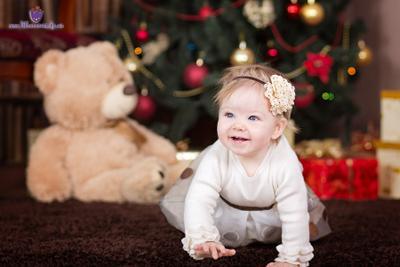 Новогодний портрет девочка рождество годовасик