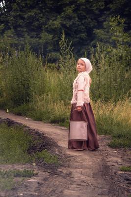 крестьянка дети дорога деревня детское фото деревенская девочка крестьянка