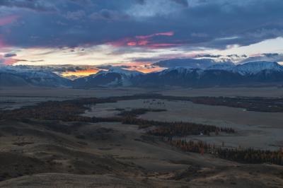 Рассвет в Курае Северо-Чуйский хребет Алтай республика горный Чуя рассвет