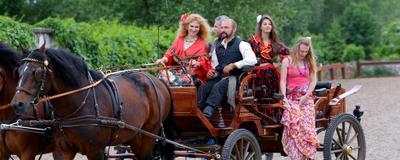 Ромалэ Sandro Pavlov цыгане праздник юбки сапоги лошади коляска