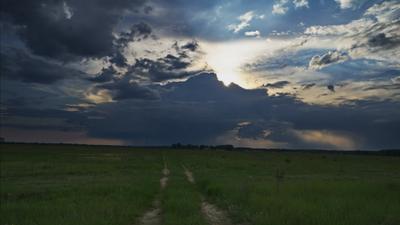 Ивановка. Дорога в Грозу. Bryansk Ivanovka Heaven Road Storm VladimirPochtarev Брянск Ивановка дорога гроза небеса
