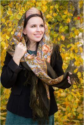 Осенний портрет павловопосадскийплаток ппм