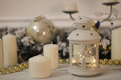 Настроение - ждем праздника новый год фонарь свечи огни