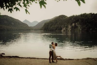 Озеро Альпзее озеро пара свадьба фотопрогулка германия фотограф