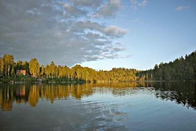 Вечер на озере Карелия озеро вечер закат