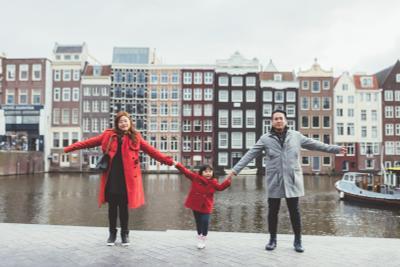 Я и моя семья в Амстердаме амстердам голландия семья семейная фотосессия фотопрогулка уличная фотография в городе фотограф нидерланды