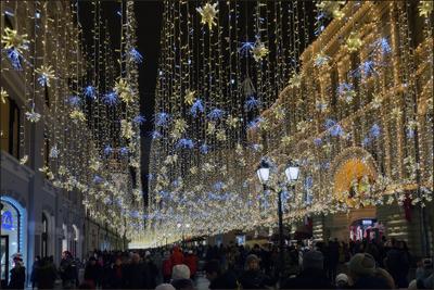 Москва новогодняя (6) Новый год Рождество Москва город