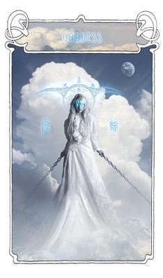 Godess | Богиня богиня коллаж небо облака белый голубой магия фентези девушка godess clouds white blue fantasy magic
