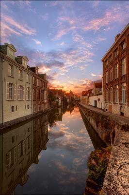 Brugge : sunrise Брюгге Бельгия Brugge Belgium Gouden Handrei EGRA ЕГРА