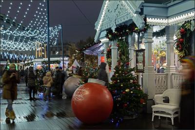 Москва новогодняя (10) Новый год Рождество Москва город