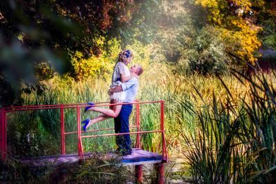 Лето осенью свадьба счастье молодые муж жена