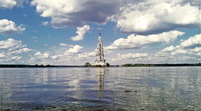 Колокольня в Калязине Касимов колокольня Волга