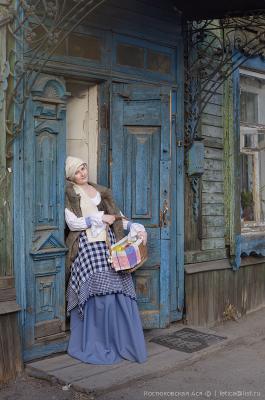 На старых улочках Иркутск деревянный