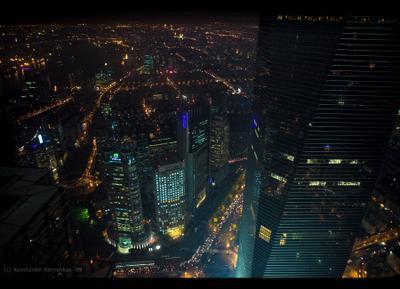 Shanghai | Вид с Jin Mao Tower skyscraper China Shanghai Китай Шанхай небоскреб Jin Mao Tower Shanghai World Financial Center