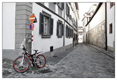 На углу ... или думы о знаках Бамберг, Германия, велик, знаки