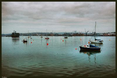 Tamar boats Plymouth, Tamar river, UK, Плимут
