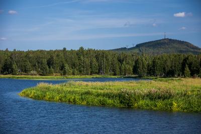 река Чусовая и гора Волчиха Чусовая, Волчиха, Ревда