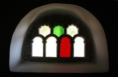 После ремонта Окно мозаика стекло