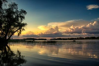 июль.река.закат