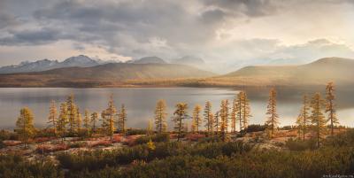 """""""Осенняя панорама"""" Колыма Дальний Восток Магаданская область озеро Джека Лондона краски осени осень"""
