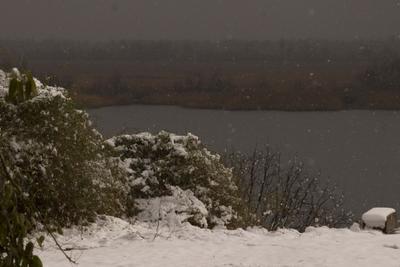 осенний снег снег осень зима осенний река