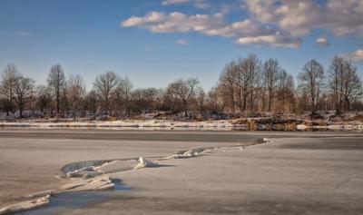 лед тронулся... весна лед река солнце