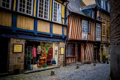 Улочка. Город Ренн, Бретань, Франция.