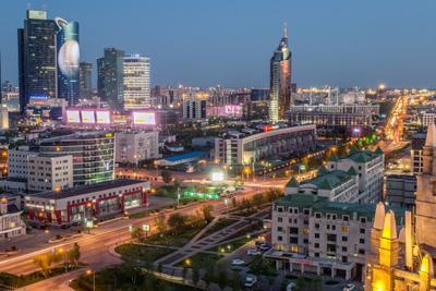 Астана Астана ночной город триумф астаны