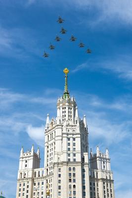 Парад Победы. Су-30СМ и Су-35С