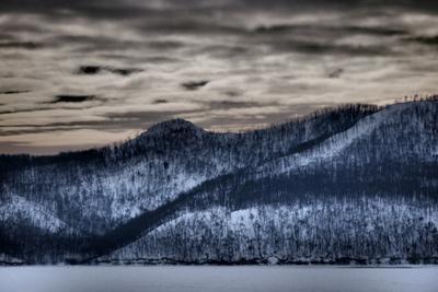 *** горы облака лес