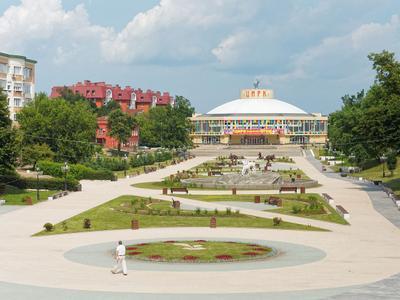 Рязанский цирк город Рязань Цирк парк сквер