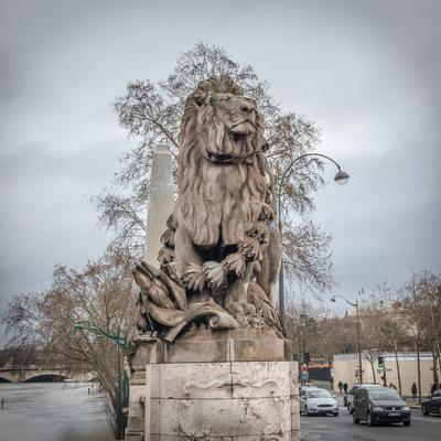 Лев. Набережная Сены, Париж Лев