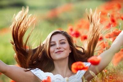 *** canon 6d 135mm poppy portrait girl flowers